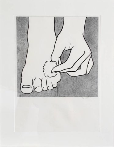 Roy Lichtenstein - Foot Medication, Print