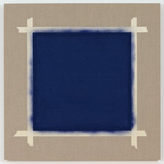 Square with Ultramarine Blue Paint II (1) art for sale