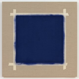 Square with Ultramarine Blue Paint II (2) art for sale