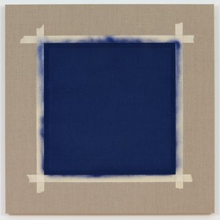 Square with Ultramarine Blue Paint II (3) art for sale