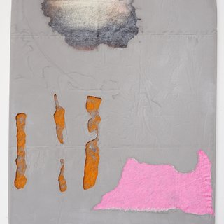 Untitled Fragment (grey, pink, orange) art for sale