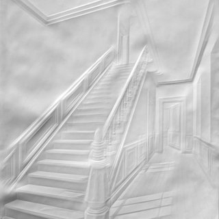 Simon Schubert, Untitled (Stairs with Figure)