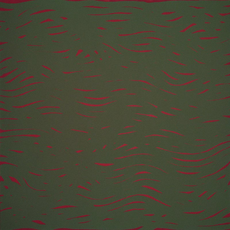 Sol LeWitt, Horizontal Bands (More or Less) Red/Green