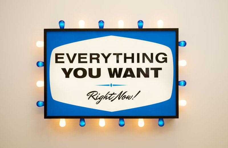Steve Lambert, Everything You Want, Right Now, 2011/2013