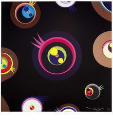 Jellyfish eyes - Black 1, by Takashi Murakami