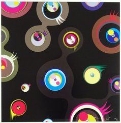 Jellyfish eyes - Black 2, by Takashi Murakami