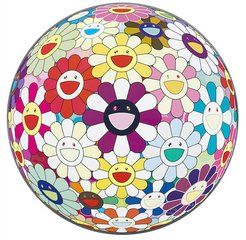 Flower Ball (3D) Lot of Colors Right There, by Takashi Murakami