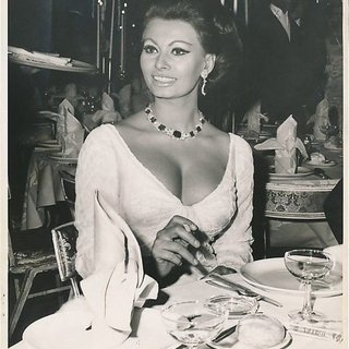 Sophia Loren Eating art for sale