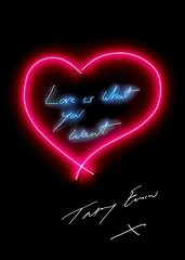 Love is What You Want [Signed Poster], by Tracey Emin