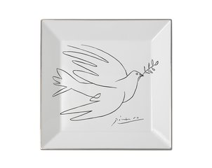 Square plate The Dove, by Pablo Picasso