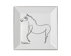 Square plate The Horse, by Pablo Picasso