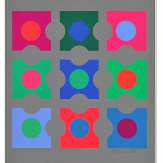 Code (Les Bleus), by Victor Vasarely