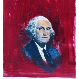 George Washington (Red, Blue and Black) art for sale
