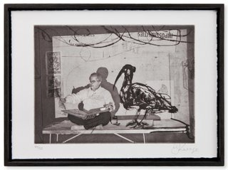 Scribe with ibis, by William Kentridge
