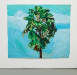 Sky and Palm Tree Head #4, by Yutaka Sone