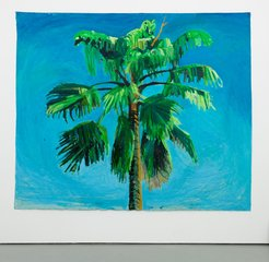 Sky and Palm Tree Head #5, by Yutaka Sone