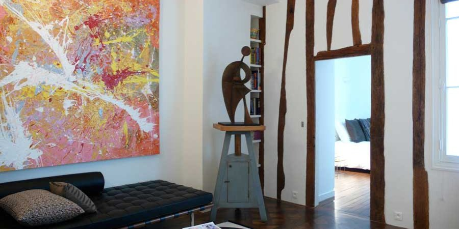 One of the Kasha's art-filled Paris apartments.