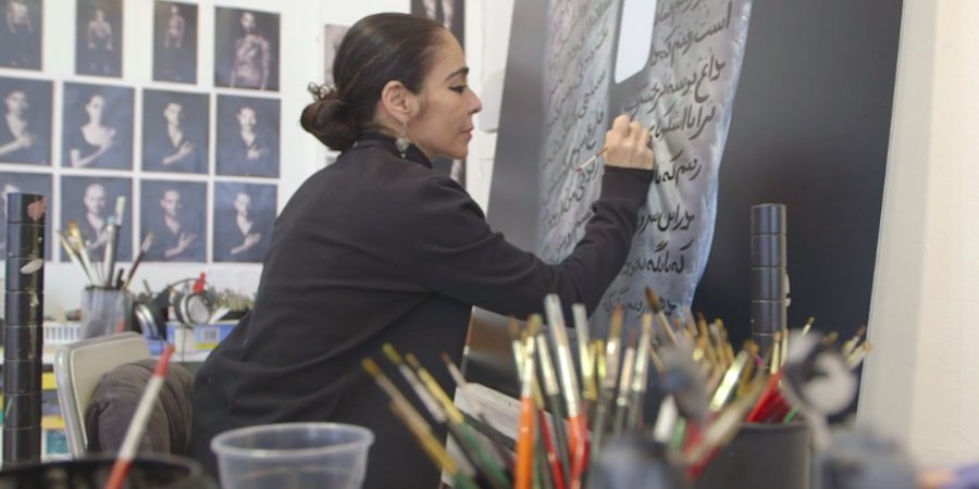 Watch a Studio Visit With the Iranian Artist Shirin Neshat