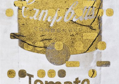 Bill Claps - It's All Derivative: Campbells Soup in Gold