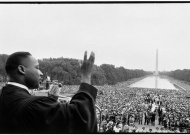 Bob Henriques - Washington DC. Prayer Pilgrimage for Freedom, May 17, 1957. Martin Luther King speaking to the crowds.