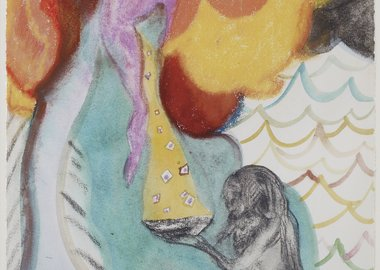 Chris Ofili - Study for Ovid-Windfall