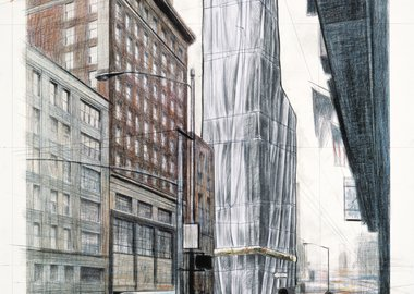 Christo  - Wrapped Building, Project for #1 Times Square
