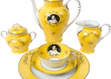 Cindy Sherman - Madame de Pompadour (née Poisson)- 21- piece porcelain tea set