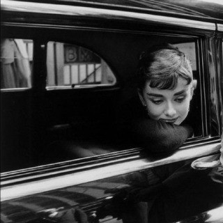 "USA. New York, NY. 1954. Dutch actress Audrey Hepburn during the filming of ""Sabrina"" by Billy Wilder. art for sale"