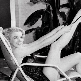 Marilyn Monroe in Bathing Suit with Leg Up art for sale