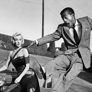 "Sammy Davis, Jr. leaps for Marilyn Monroe on set of ""How to Marry a Millionaire""  art for sale"