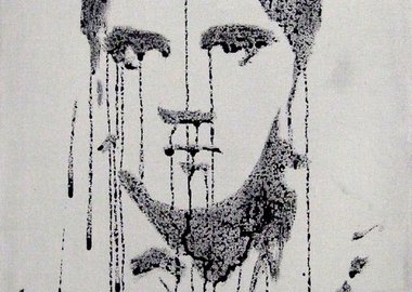 Jossef Krispel - Untitled (Triple Elvis Crying)