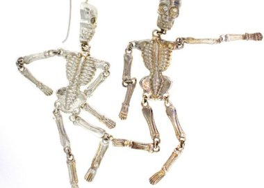 Judith Hudson - Skeleton Earrings