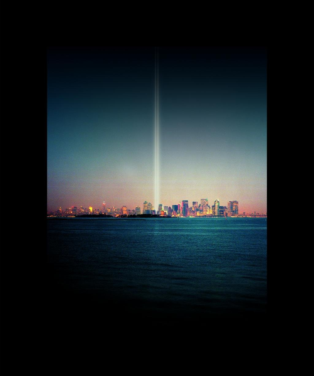 Julian LaVerdiere and Paul Myoda, Tribute in Light Over Liberty Island