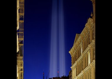 Julian LaVerdiere and Paul Myoda - Tribute in Light Over SoHo