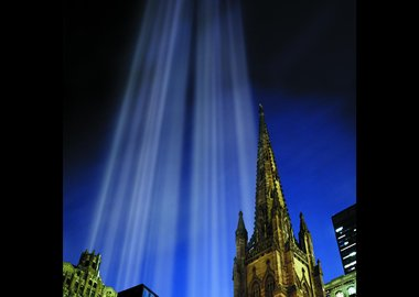Julian LaVerdiere and Paul Myoda - Tribute in Light Over Trinity Church