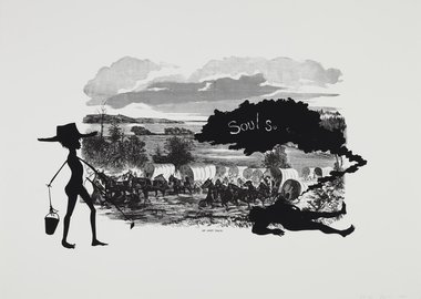 Kara Walker - Harper's Pictorial History of the Civil War (Annotated), Scene of McPherson's Death