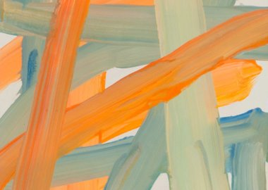Leah Durner - Untitled (orange beige bluegreen)