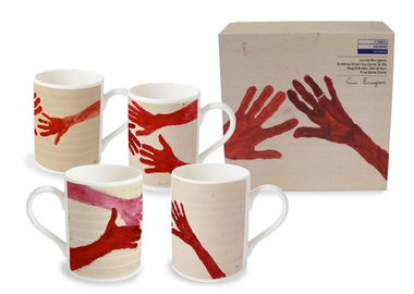Louise Bourgeois - 10am is When You Come To Me-  set of 4 Mugs