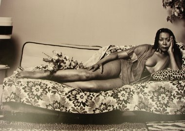 Mickalene Thomas - Madame Mama Bush in Black and White