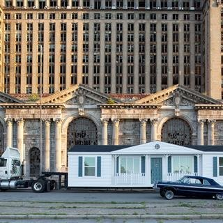 Mobile Homestead in front of Michigan Central Depot art for sale