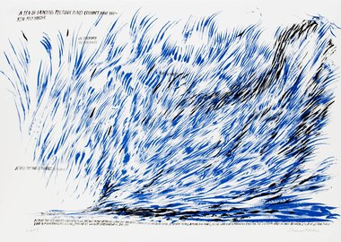 Raymond Pettibon - Untitled (A Sea of Grinding...)