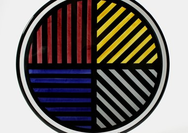 Sol LeWitt - Lines in 4 Directions and 4 Colors - Platter