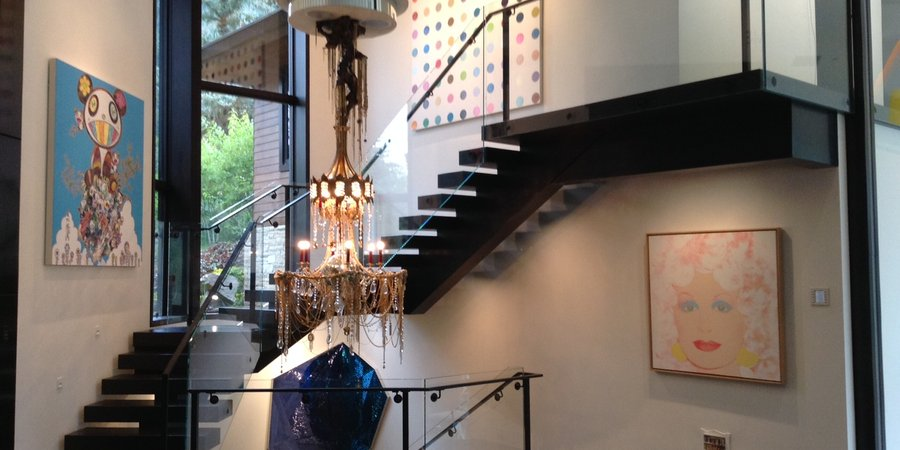 Amy Phelanu0027s Scene Stealing, Art Bedecked Staircase