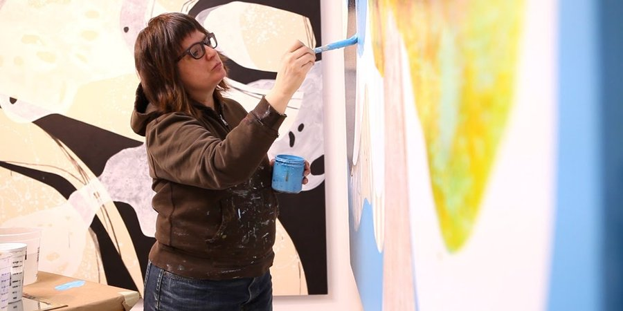 Painter Carrie Moyer on Her Polyamorous Relationship With Art