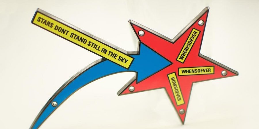 Lawrence Weiner's Signifying Shooting Star