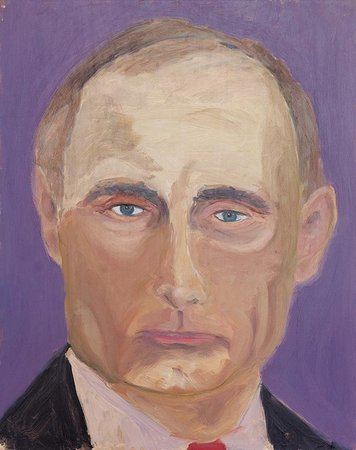 george bush portrait of vladimir putin