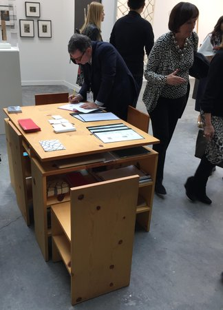 Peter Freeman Judd table at FIAC