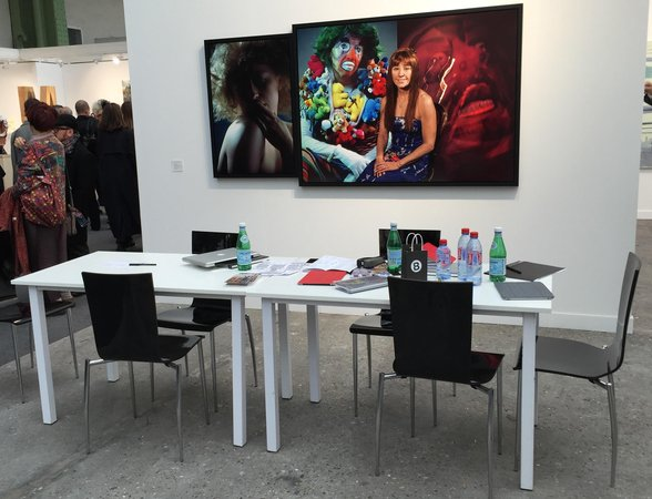 Table at Metro Pictures at FIAC