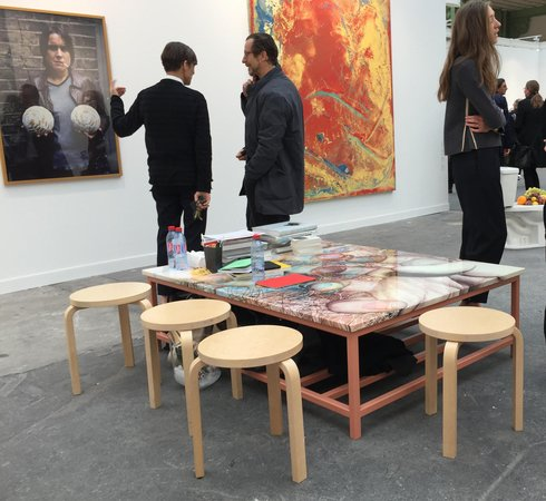 Urs Fischer table at Sadie Coles