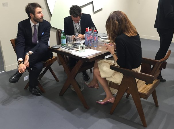 Table at White Cube at FIAC